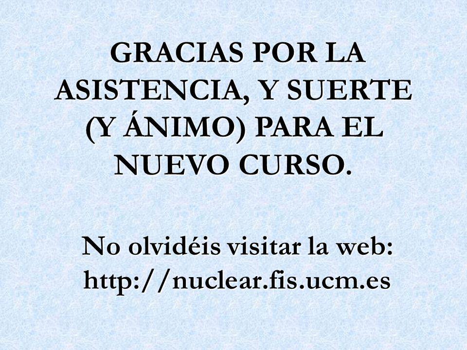 No olvidéis visitar la web: http://nuclear.fis.ucm.es