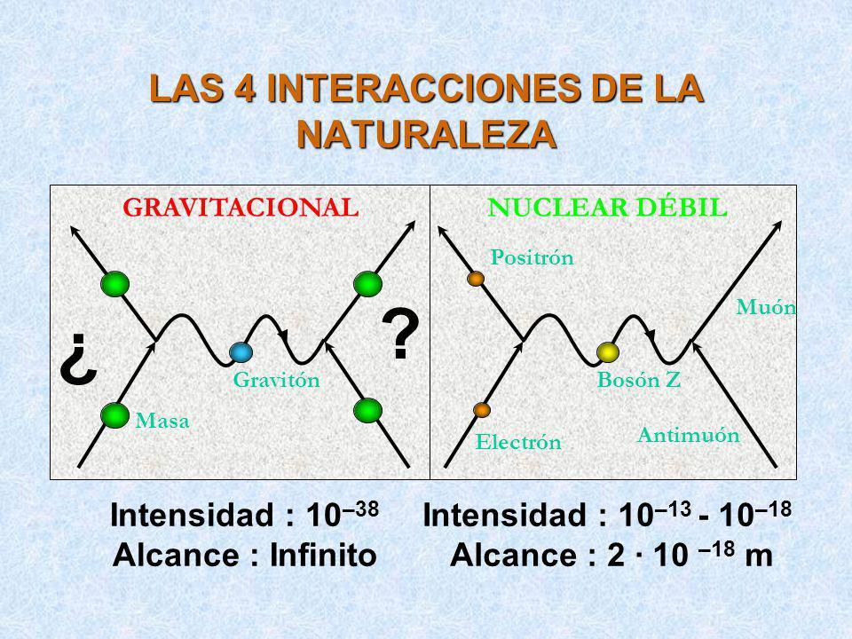 LAS 4 INTERACCIONES DE LA NATURALEZA
