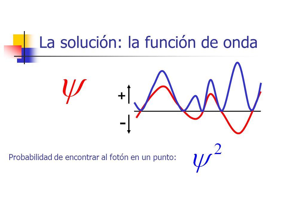 La solución: la función de onda