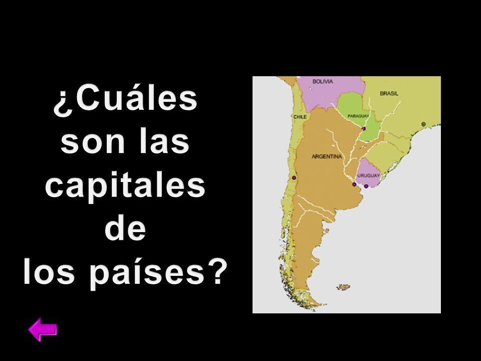 ¿Cuáles son las capitales de los países