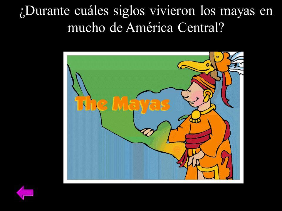 ¿Durante cuáles siglos vivieron los mayas en mucho de América Central