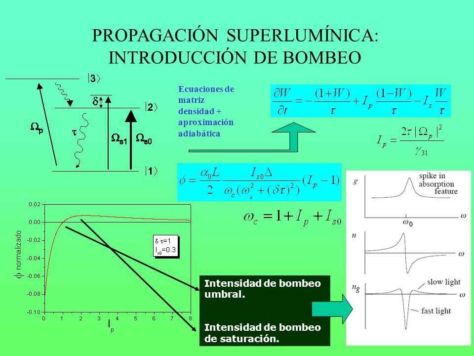 PROPAGACIÓN SUPERLUMÍNICA: INTRODUCCIÓN DE BOMBEO