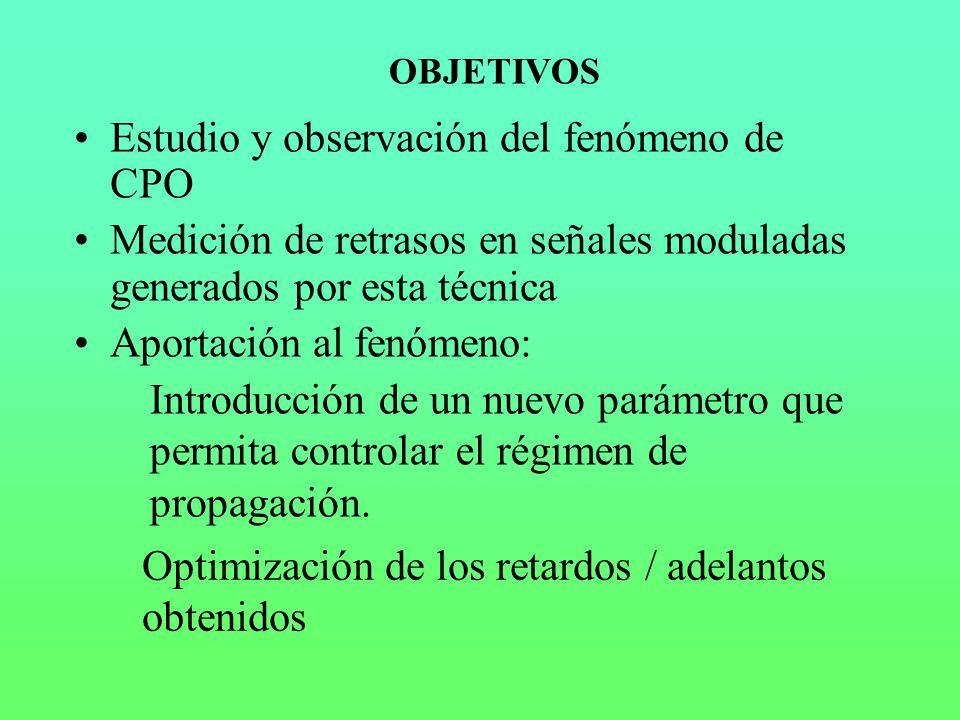 Estudio y observación del fenómeno de CPO