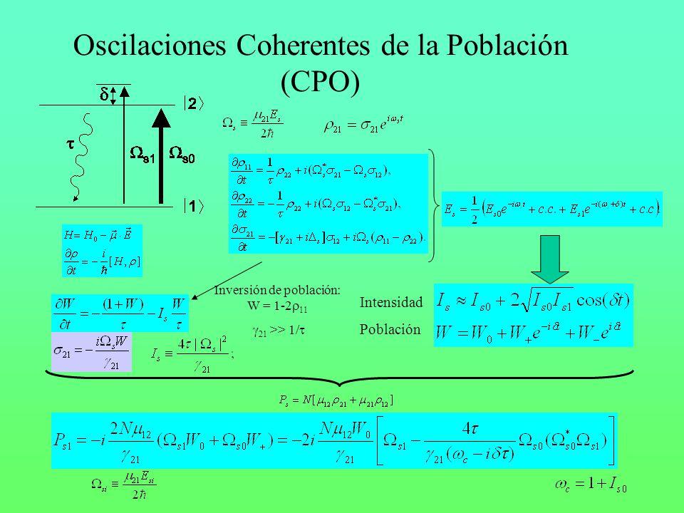 Oscilaciones Coherentes de la Población (CPO)