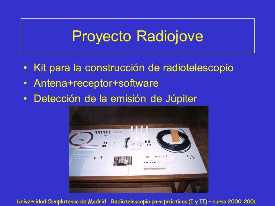 Proyecto Radiojove Kit para la construcción de radiotelescopio
