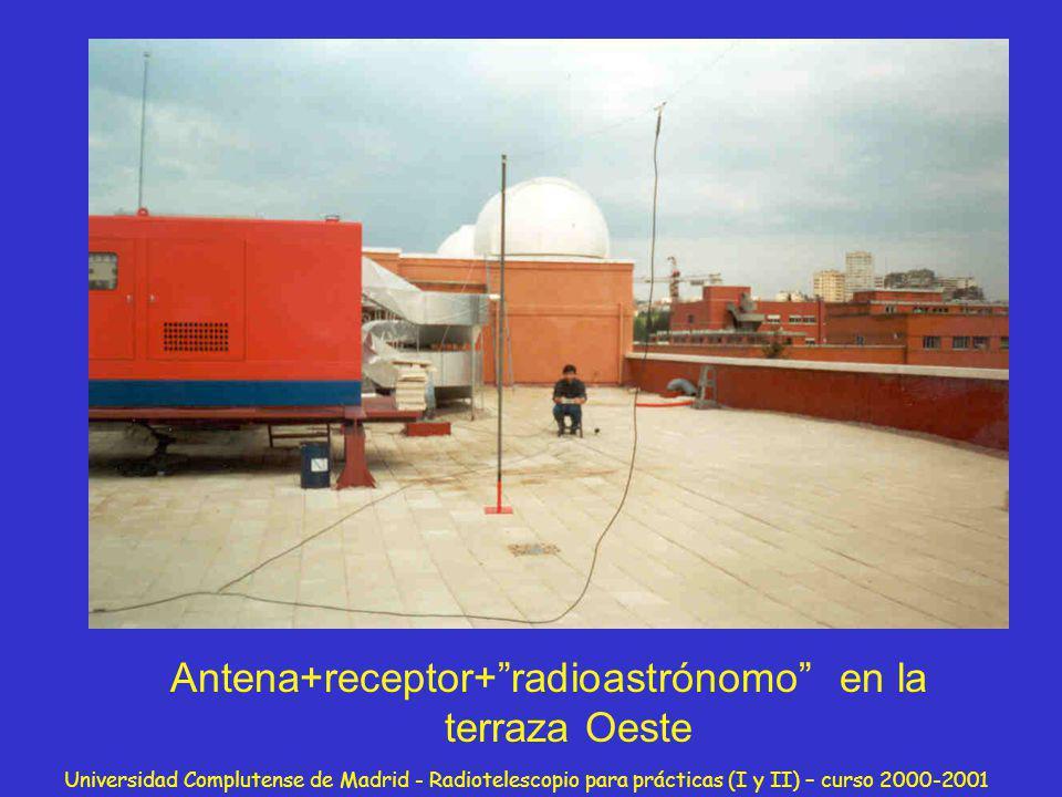 Antena+receptor+ radioastrónomo en la terraza Oeste