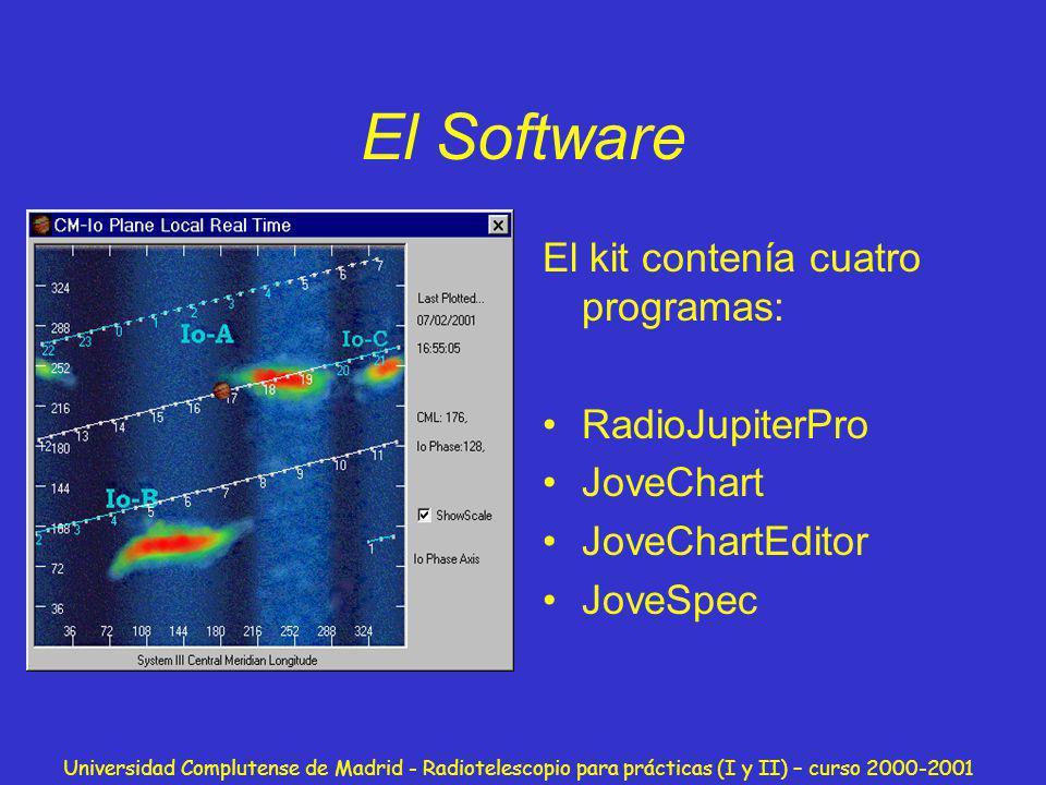 El Software El kit contenía cuatro programas: RadioJupiterPro