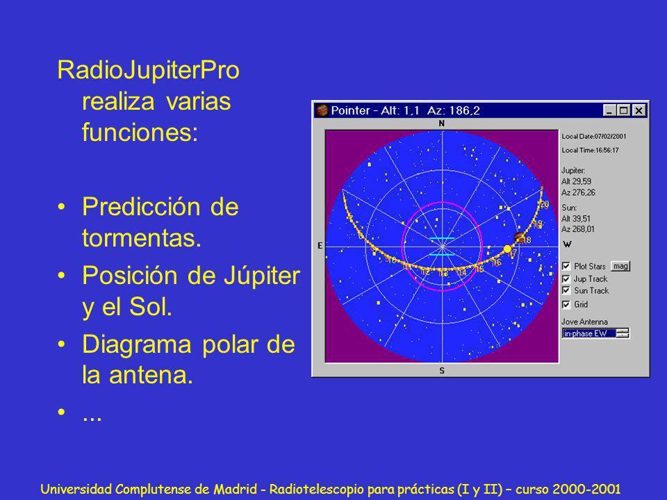RadioJupiterPro realiza varias funciones: