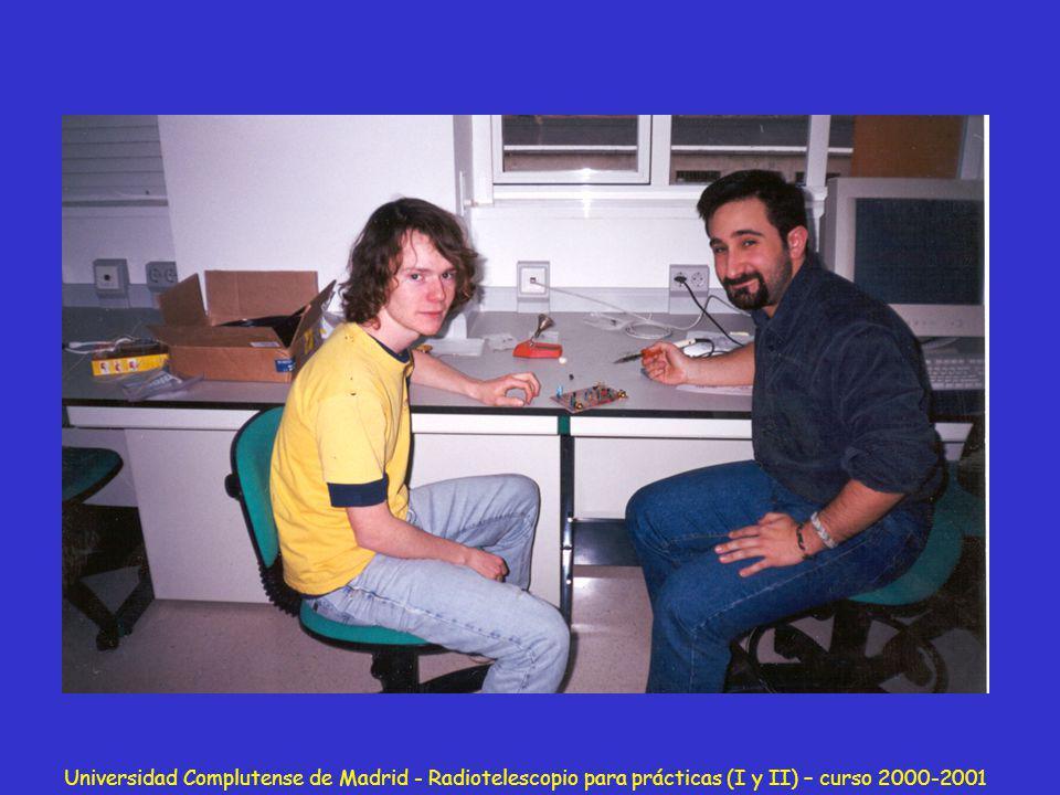 Universidad Complutense de Madrid - Radiotelescopio para prácticas (I y II) – curso 2000-2001