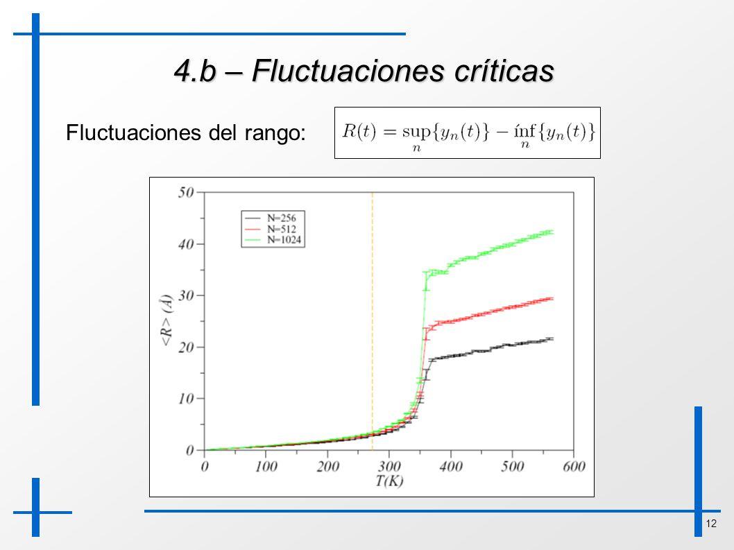 4.b – Fluctuaciones críticas