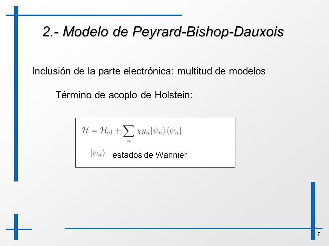 2.- Modelo de Peyrard-Bishop-Dauxois