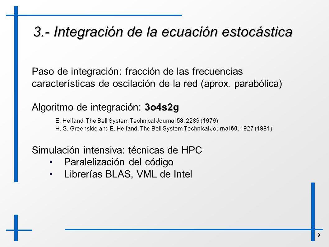 3.- Integración de la ecuación estocástica