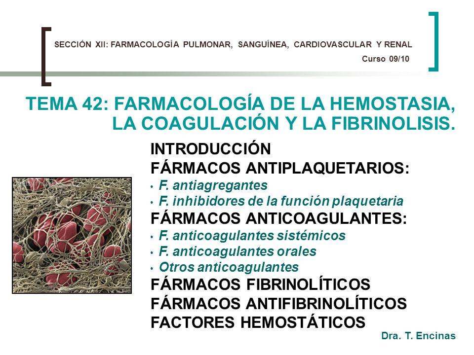 SECCIÓN XII: FARMACOLOGÍA PULMONAR, SANGUÍNEA, CARDIOVASCULAR Y RENAL