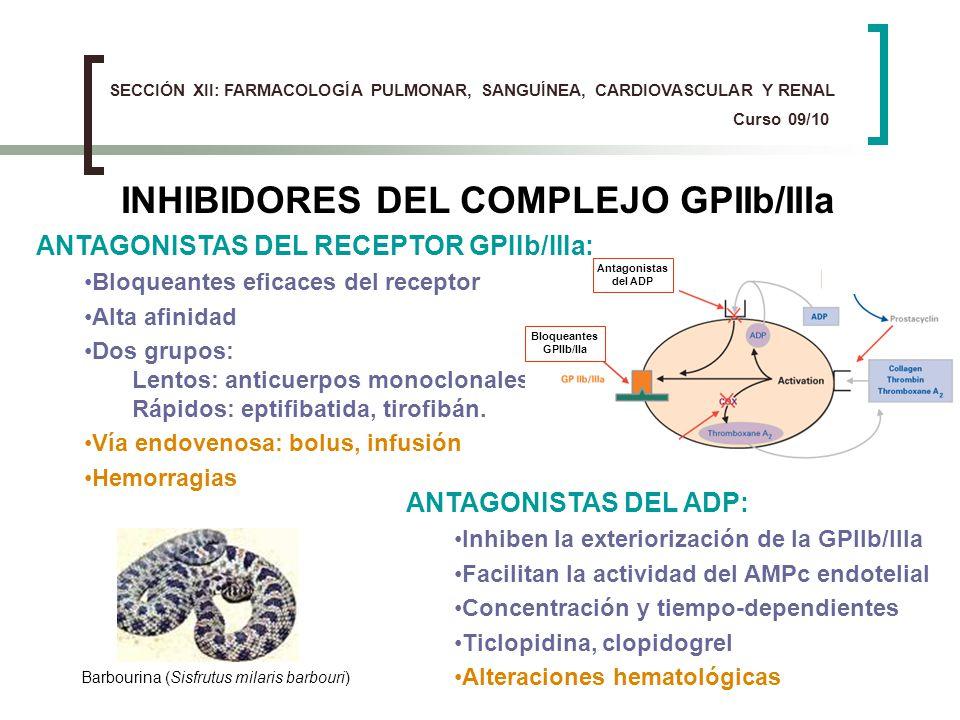 INHIBIDORES DEL COMPLEJO GPIIb/IIIa