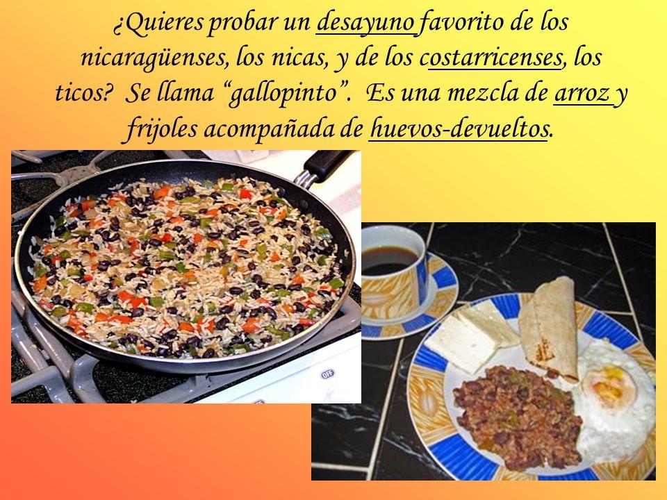 ¿Quieres probar un desayuno favorito de los nicaragüenses, los nicas, y de los costarricenses, los ticos.