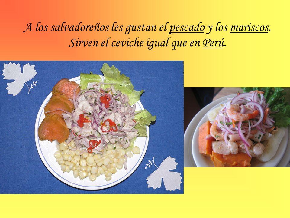 A los salvadoreños les gustan el pescado y los mariscos