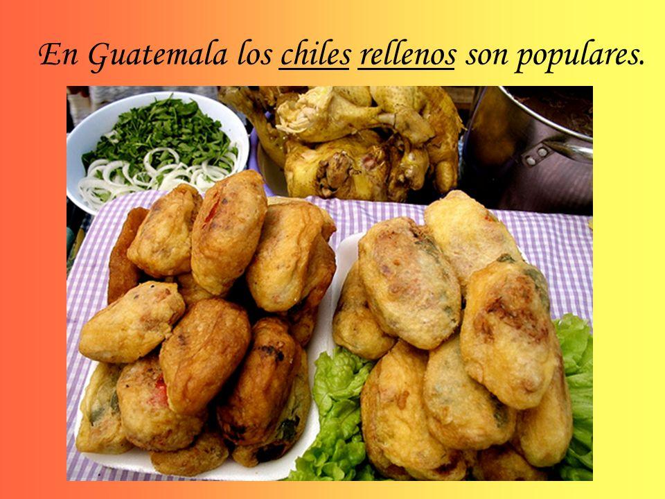 En Guatemala los chiles rellenos son populares.