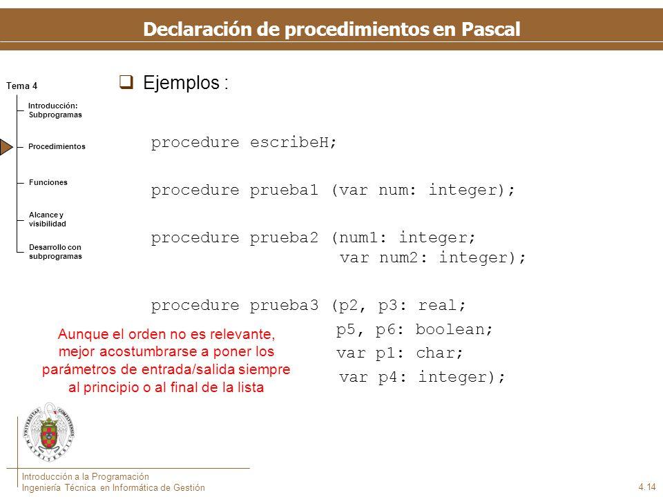Invocación de procedimientos