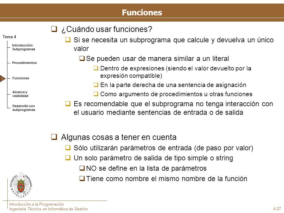 Sintaxis de las funciones en Pascal