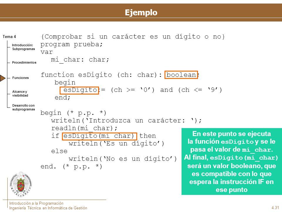 Otro ejemplo {Mostrar los días del mes} program diasDelMes; var