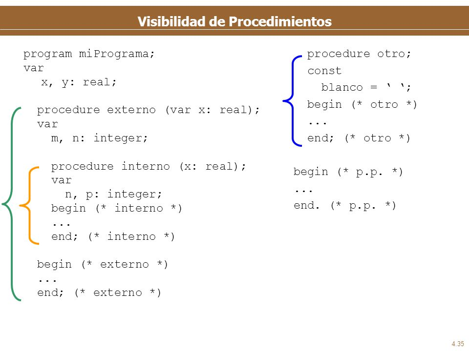 Alcance y visibilidad de variables y constantes