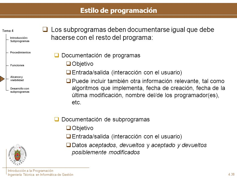 Estilo de programación