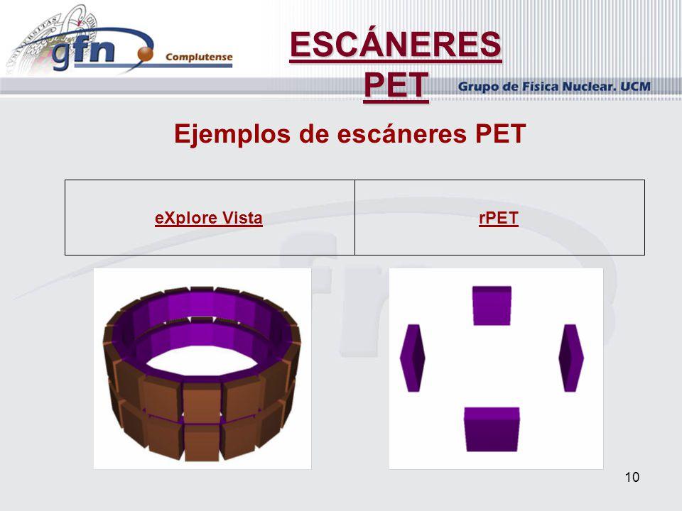 Ejemplos de escáneres PET