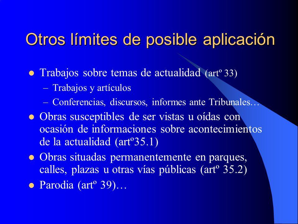 Otros límites de posible aplicación