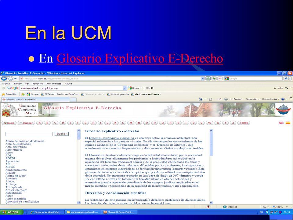 En la UCM En Glosario Explicativo E-Derecho