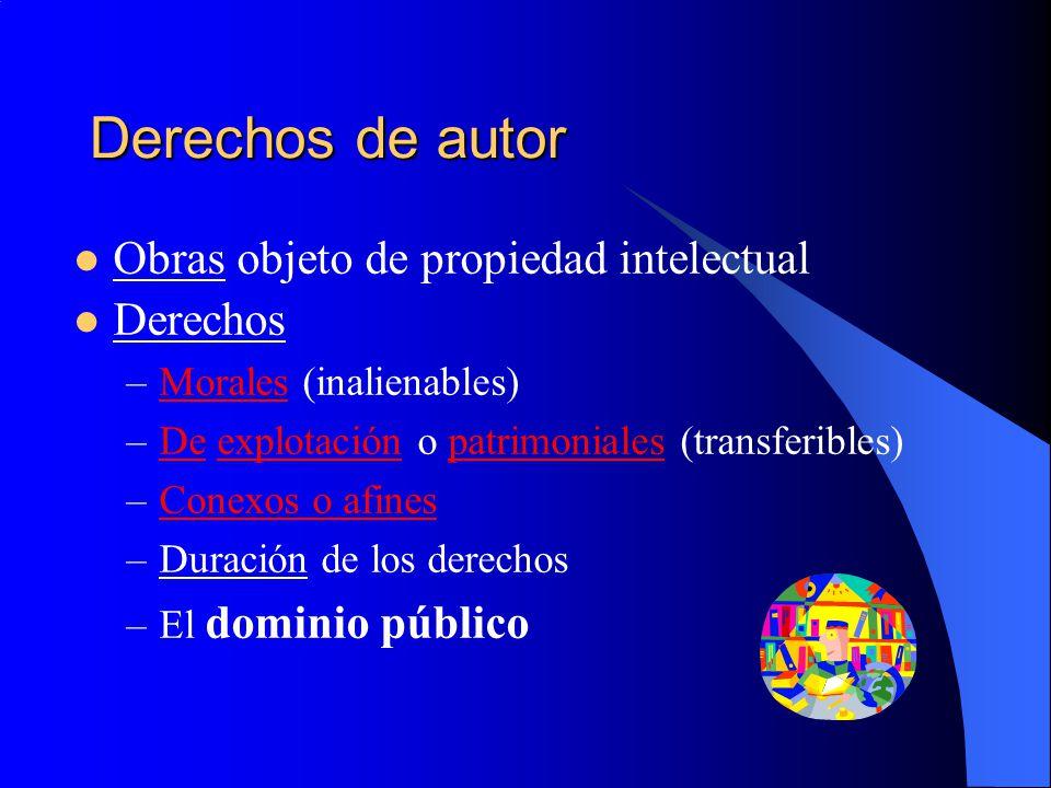 Derechos de autor Obras objeto de propiedad intelectual Derechos