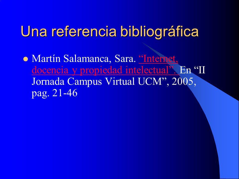 Una referencia bibliográfica