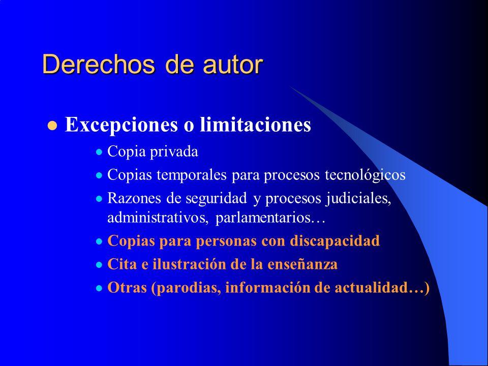Derechos de autor Excepciones o limitaciones Copia privada