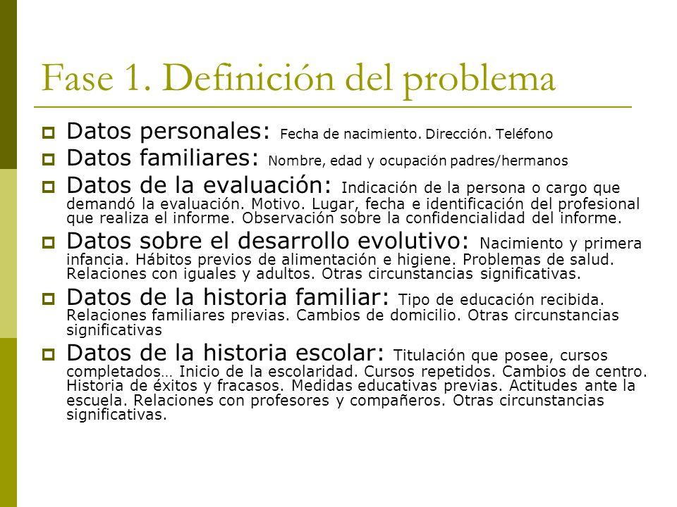 Fase 1. Definición del problema