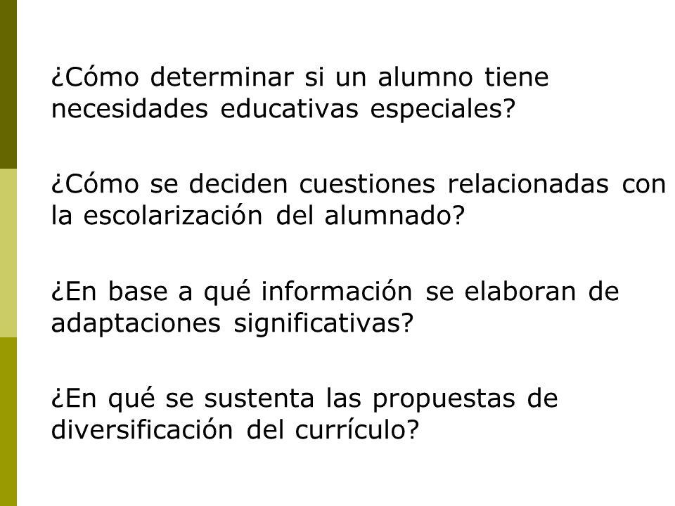 ¿Cómo determinar si un alumno tiene necesidades educativas especiales