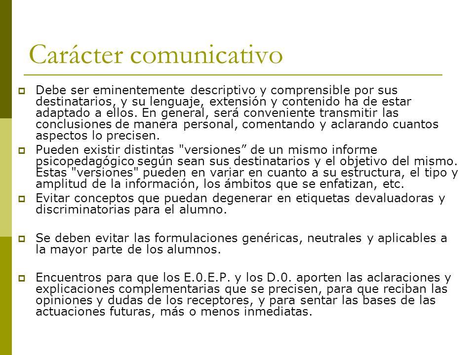 Carácter comunicativo