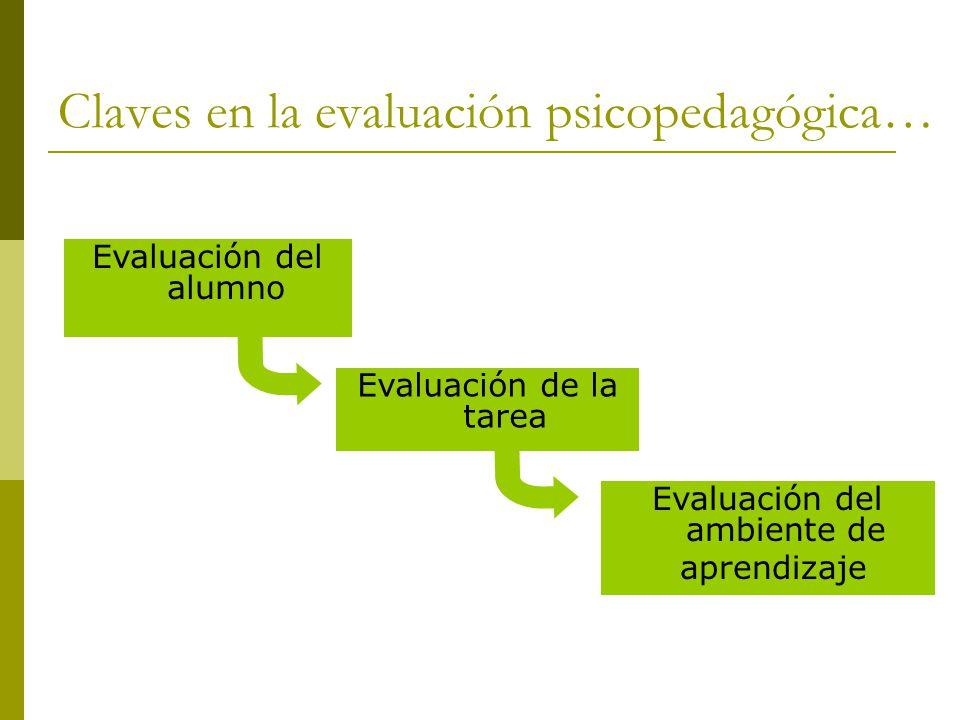 Claves en la evaluación psicopedagógica…