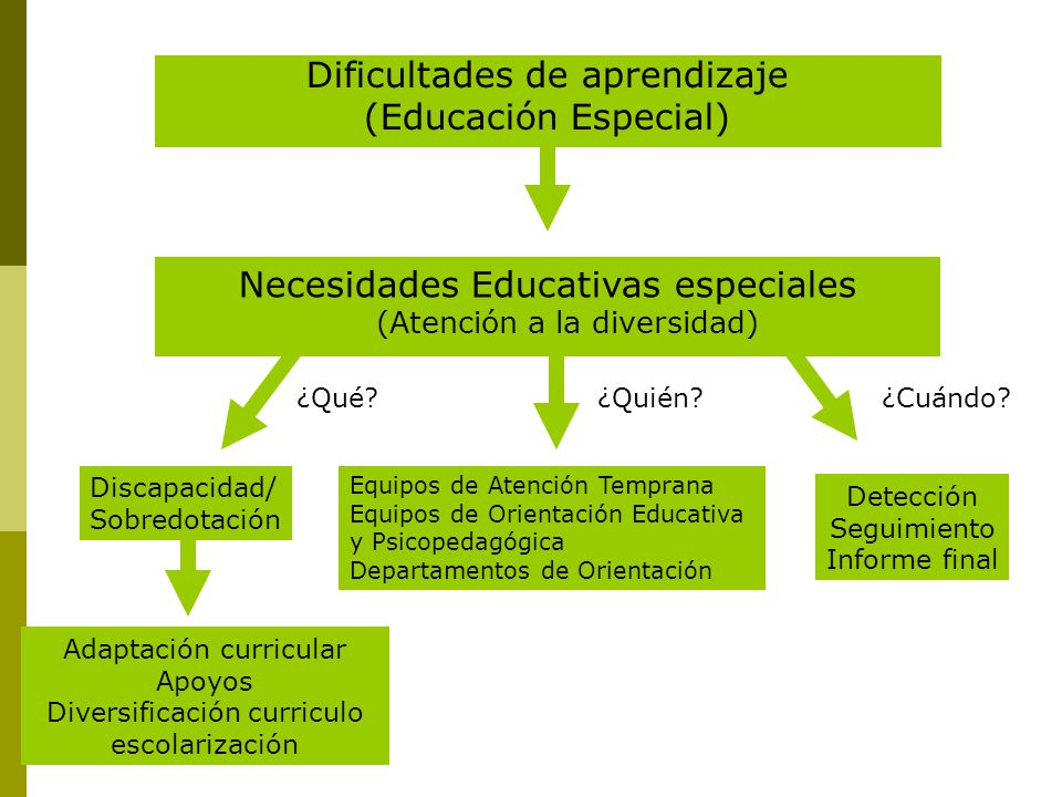 Dificultades de aprendizaje (Educación Especial)