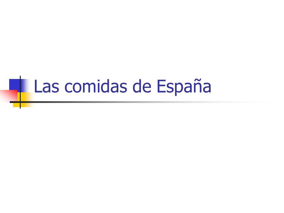 Las comidas de España