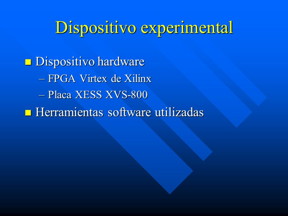 Dispositivo experimental