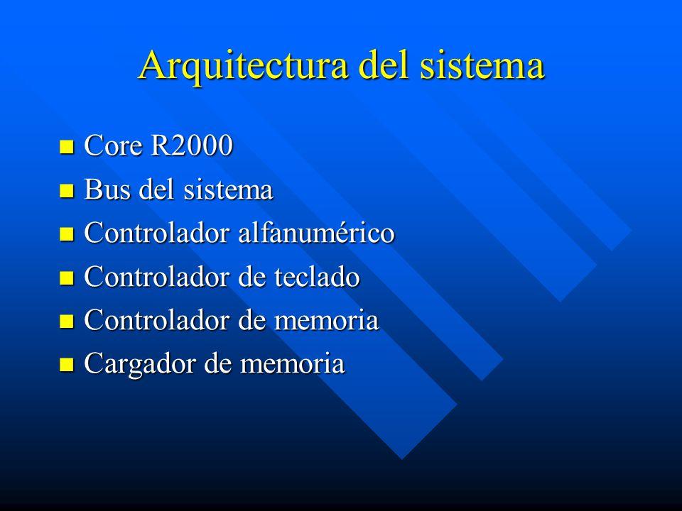 Arquitectura del sistema