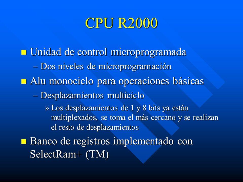 CPU R2000 Unidad de control microprogramada