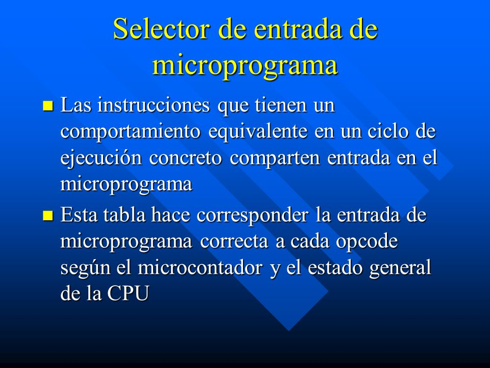 Selector de entrada de microprograma