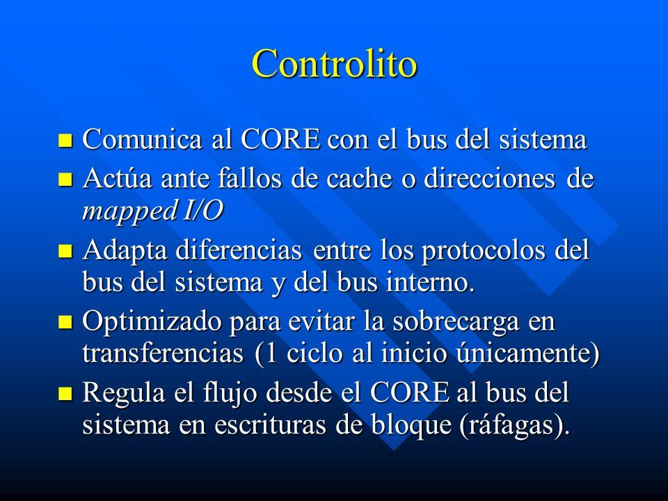 Controlito Comunica al CORE con el bus del sistema
