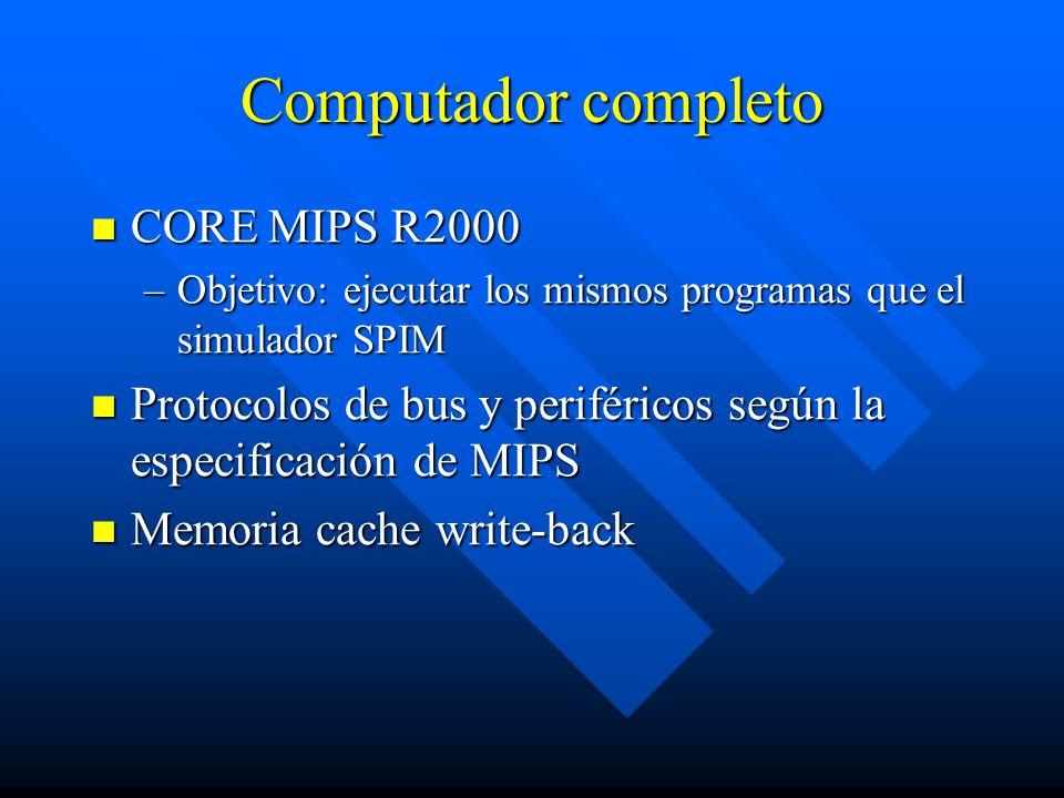 Computador completo CORE MIPS R2000