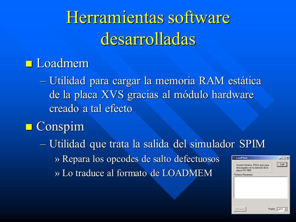 Herramientas software desarrolladas