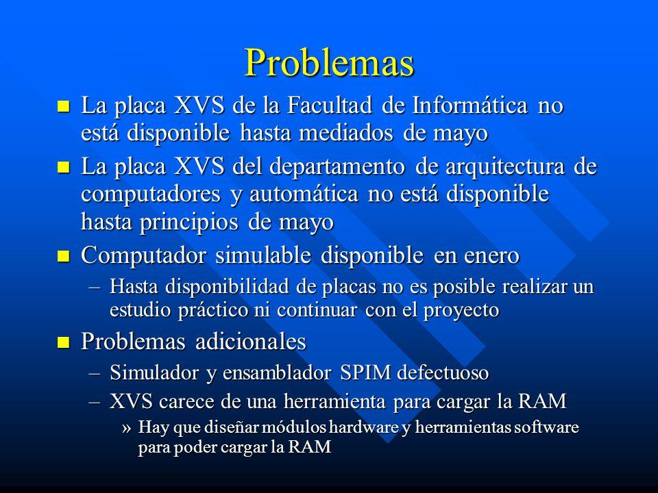 Problemas La placa XVS de la Facultad de Informática no está disponible hasta mediados de mayo.