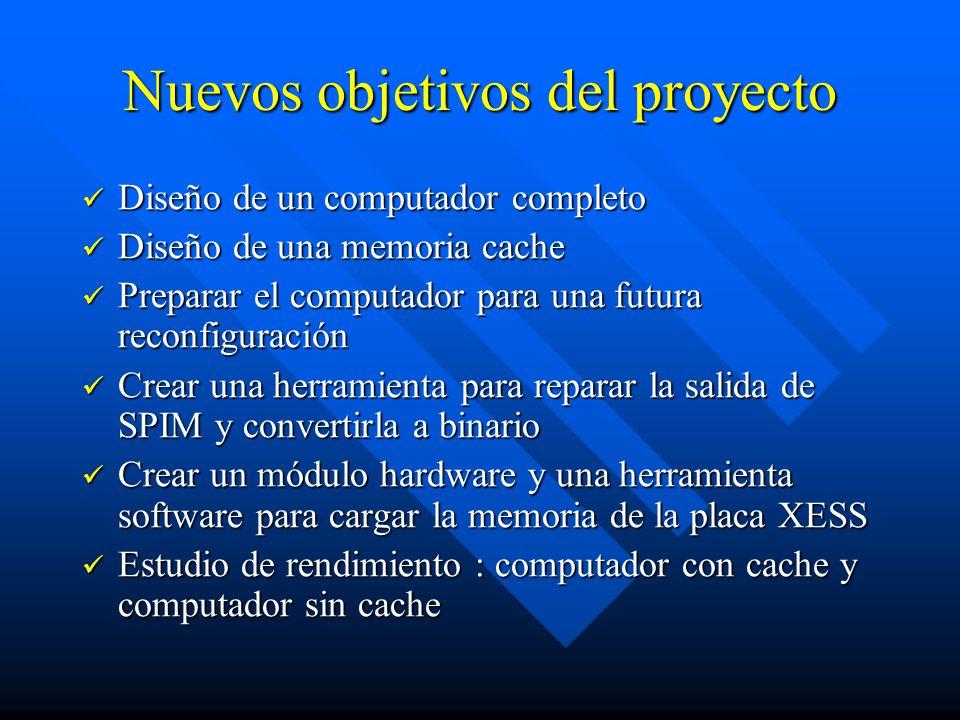 Nuevos objetivos del proyecto