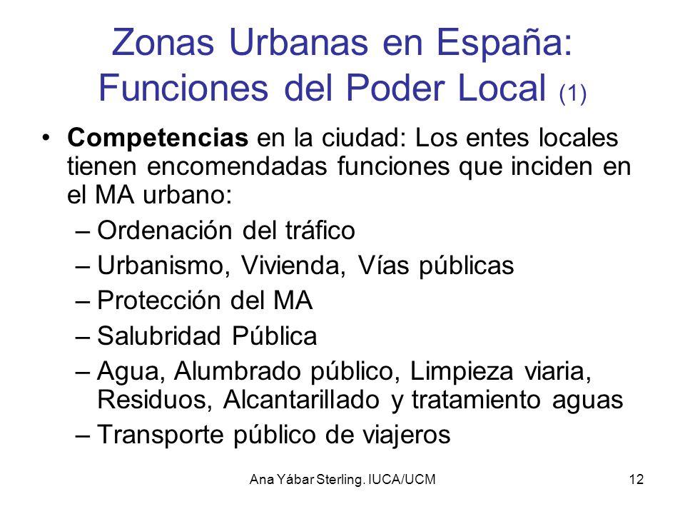 Zonas Urbanas en España: Funciones del Poder Local (1)