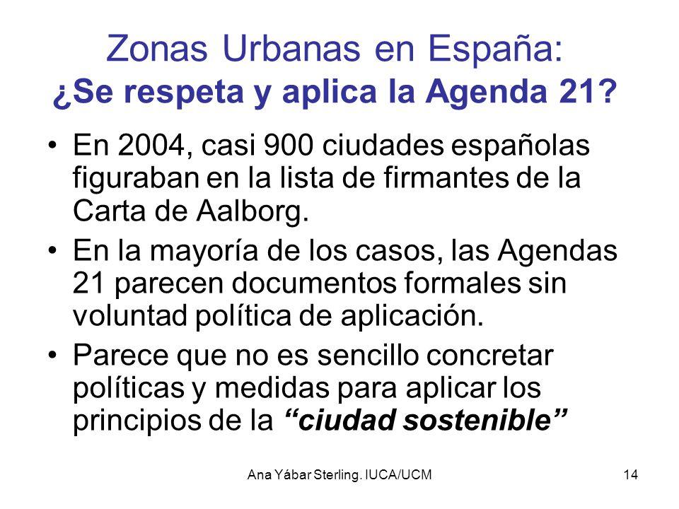 Zonas Urbanas en España: ¿Se respeta y aplica la Agenda 21