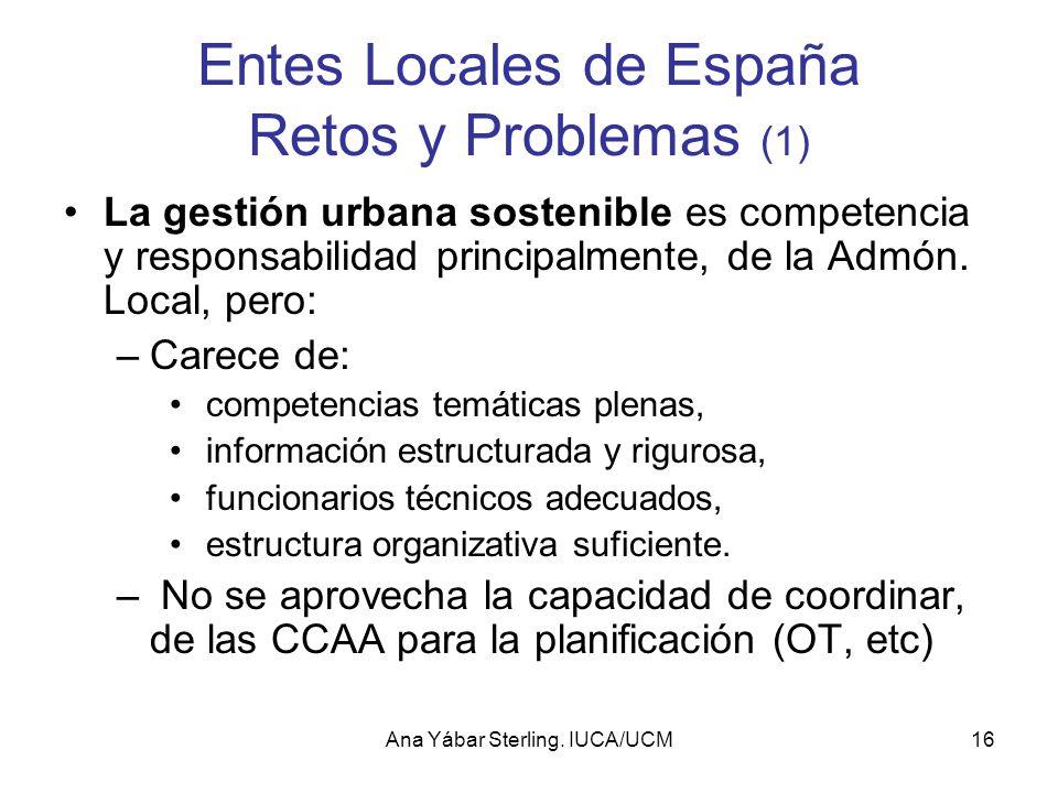 Entes Locales de España Retos y Problemas (1)
